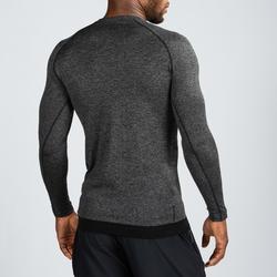 Tee shirt manche longue compression musculation homme noir