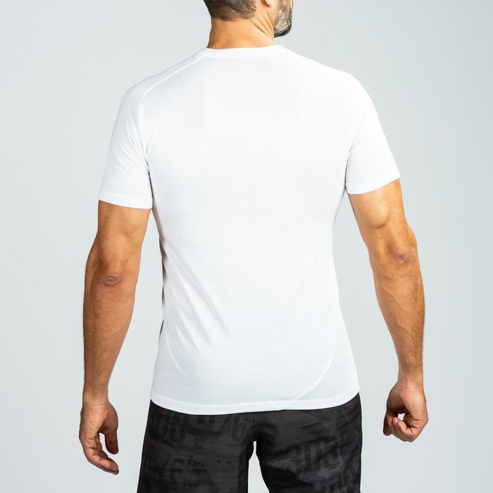 T-shirt voor crosstraining heren wit