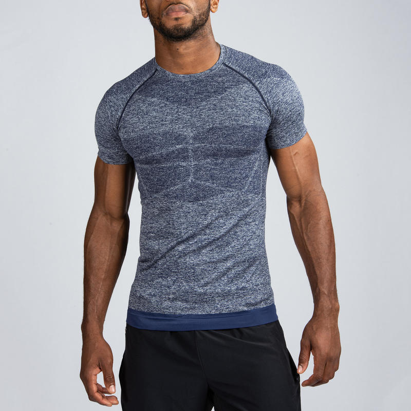 Weight Training Compression T-Shirt - Blue