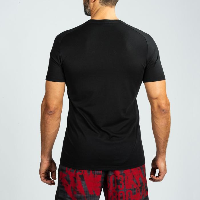 Fitness shirt voor crosstraining heren, zwart