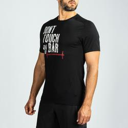 Shirt crosstraining voor heren, zwart