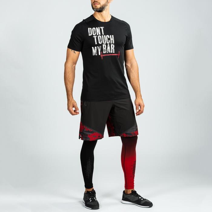 T-shirt voor crosstraining heren zwart