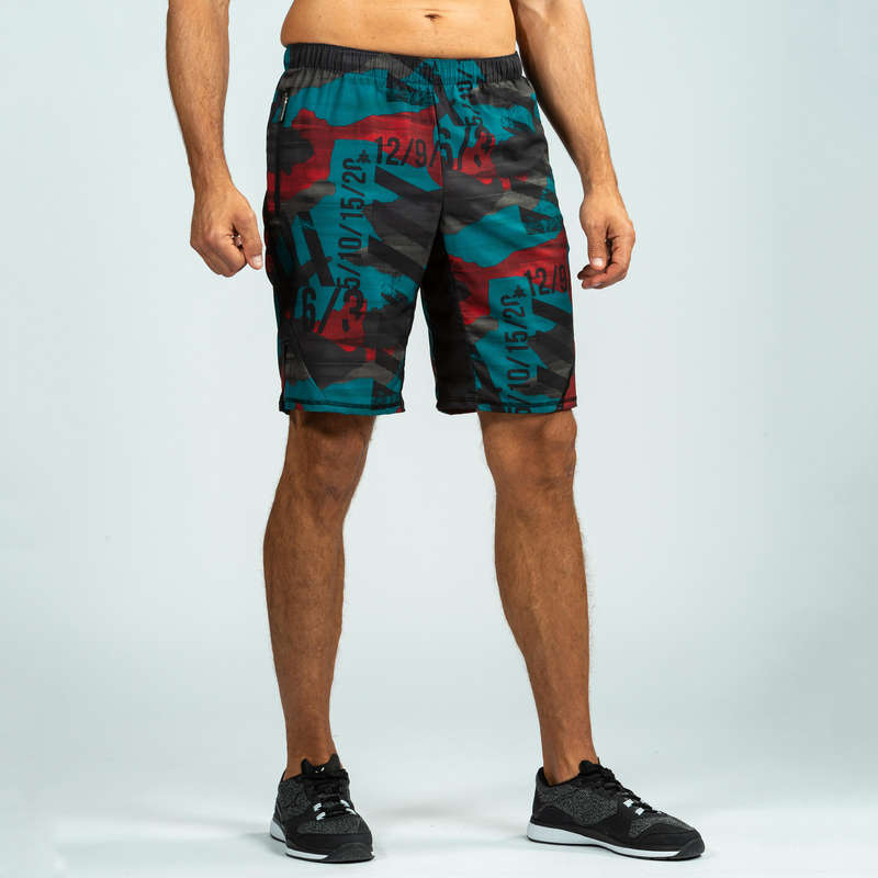 CROSS-TRAINING APPAREL Clothing - 500 Cross Shorts - Red/Blue DOMYOS - Bottoms