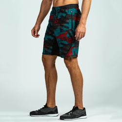 SHORT CROSSTRAINING 500 HOMME ROUGE/BLEU
