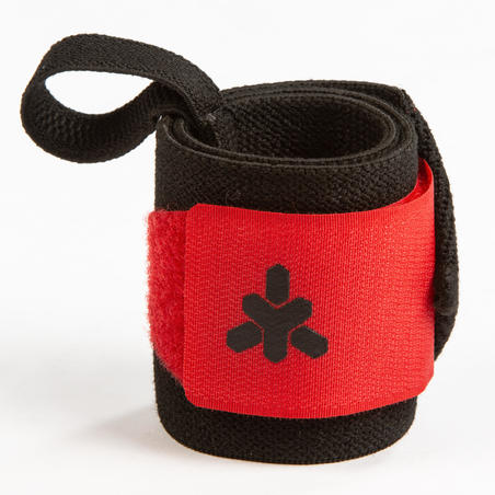Weight Training Wrist Support Wraps Velcro Fastening - Red