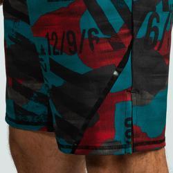 Sporthose kurz 500 Crosstraining Herren rot/blau