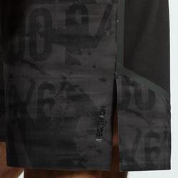 Herenshort voor crosstraining 900 zwart/grijs