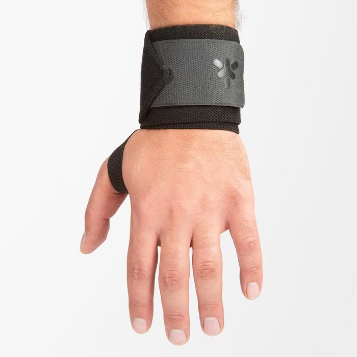 Handgelenkbandage Klettverschluss grau