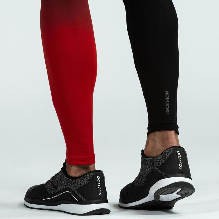 Crosstraining legging voor heren, zwart/rood