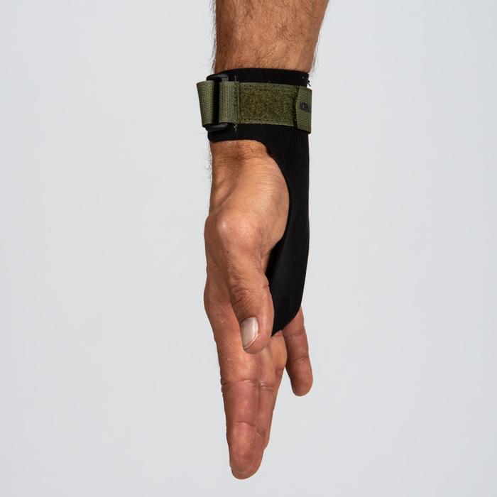 Calleras Cross Training 2 Dedos Musculación Domyos Negro/Caquí Ceniza