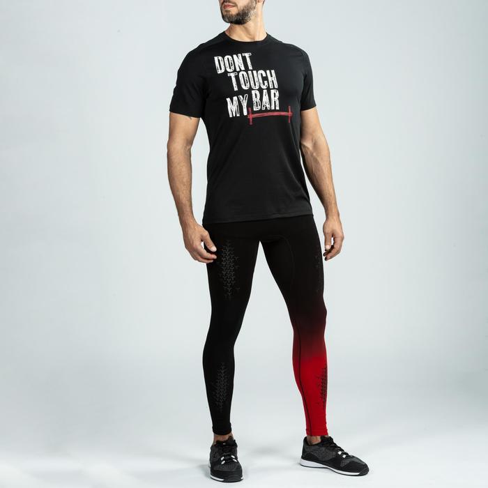 Legging crosstraining 900 voor heren, zwart/rood