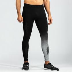 Legging crosstraining 900 voor heren, zwart/grijs