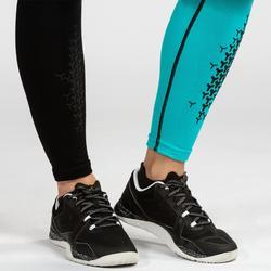 Leggings Crosstraining 900 Damen schwarz/blau