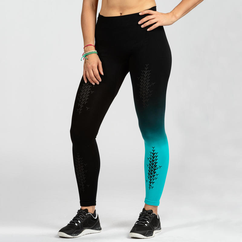 900 Women's Cross Training Seamless Leggings - Blue/Black