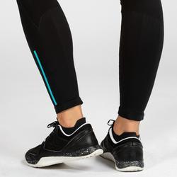 Mallas Leggings Deportivos Cross Training Domyos Mujer Negro Y Azul 500