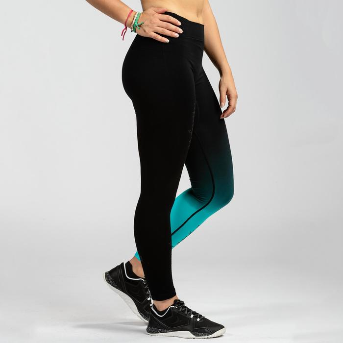 LEGGINGS SEAMLESS CROSSTRAINING 900 FEMME NOIR/BLEU