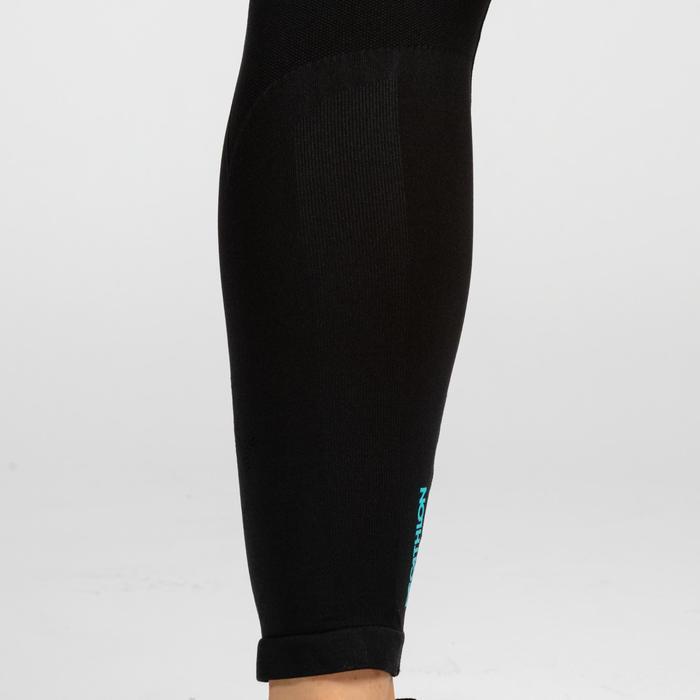 Legging femme 500 noir/bleu pour le cross training