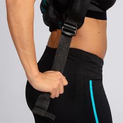 Chaleco Lastrado Ajustable Cross Training Musculación Domyos 5Kg Negro/Turquesa
