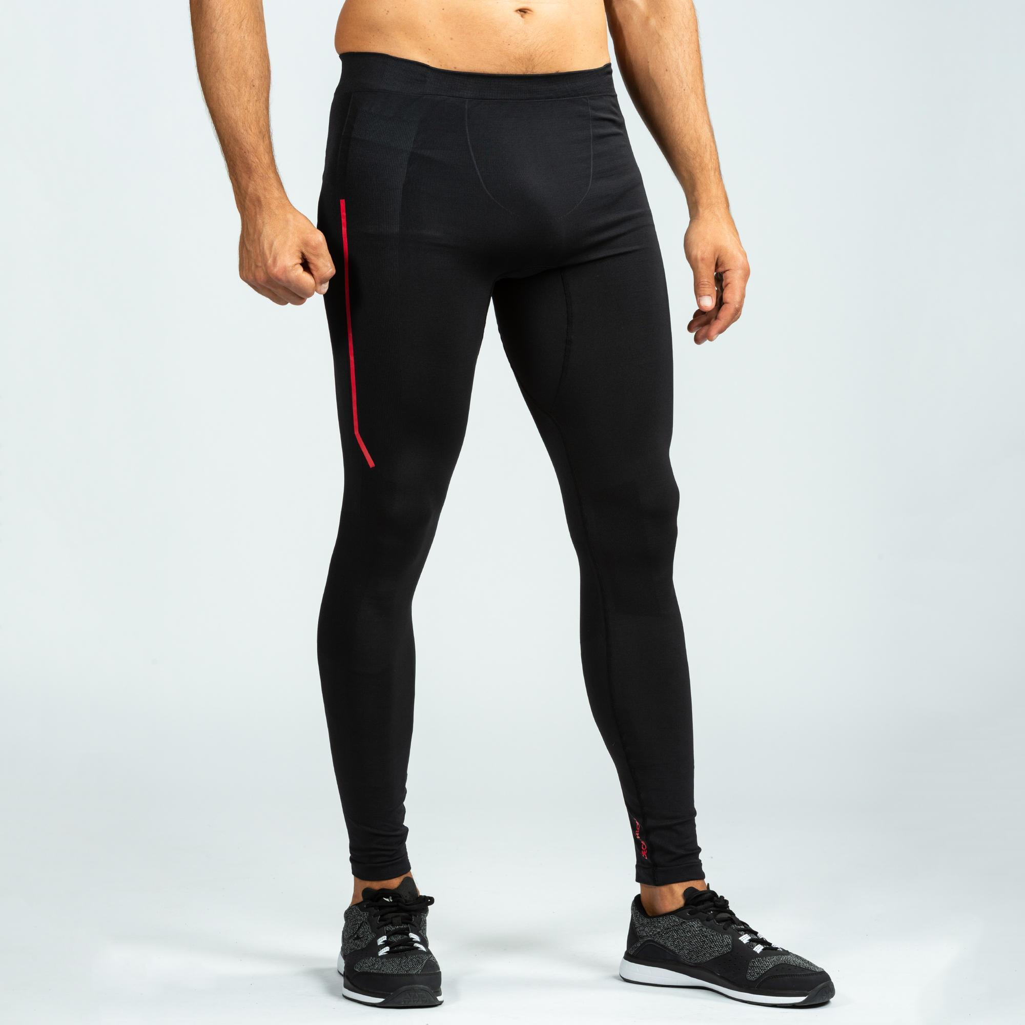 08d28a373869c 500 Cross-Training Leggings - Black/Red | Domyos by Decathlon