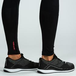 LEGGINGS SEAMLESS CROSSTRAINING 500 HOMME NOIR/ROUGE