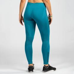 Mallas Leggings Deportivos CrossTraining Domyos Mujer Azul Y Negro 500