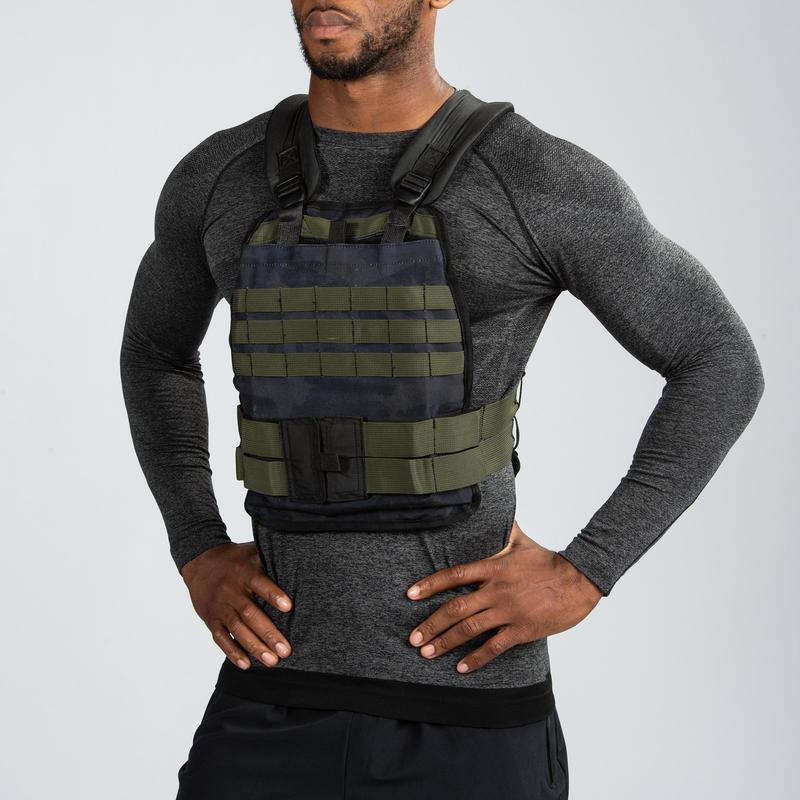 เสื้อกั๊กถ่วงน้ำหนักแบบปรับได้ 10 กก. สำหรับการฝึกเวทเทรนนิ่ง