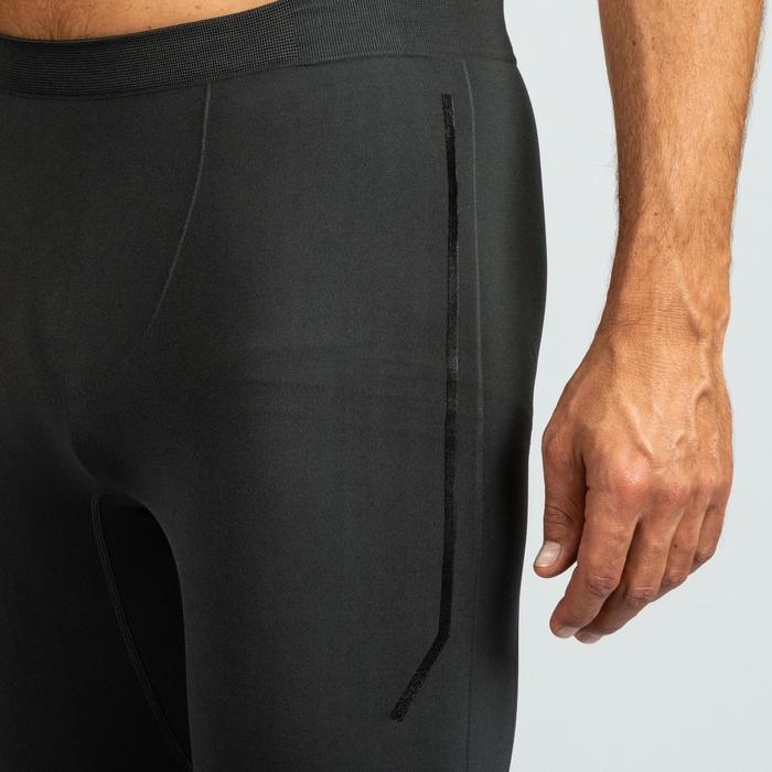 Crosstraining legging 500 voor heren, grijs/zwart