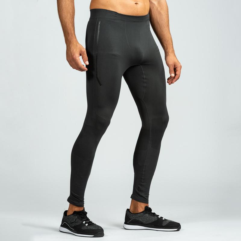 63fa1b77af1e0 500 Cross Training Seamless Leggings - Black/Grey | Musculation ...