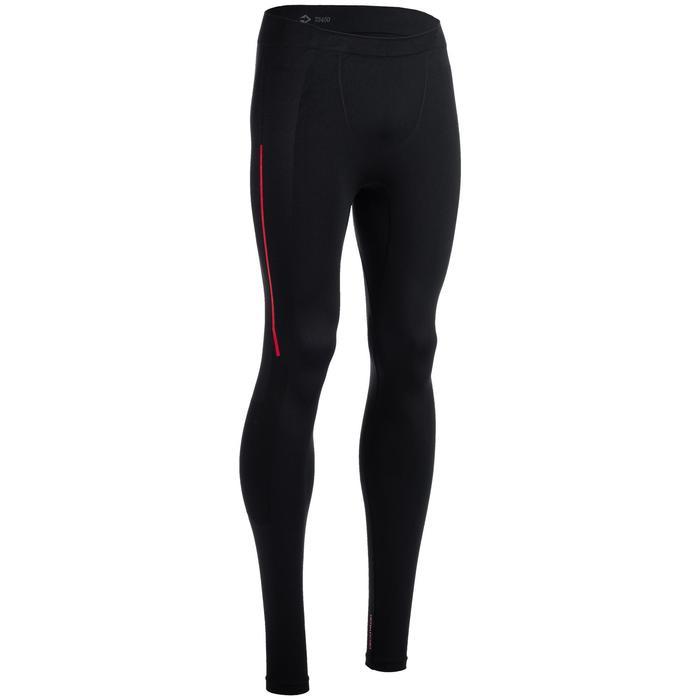 Crosstraining legging 500 voor heren, zwart/rood