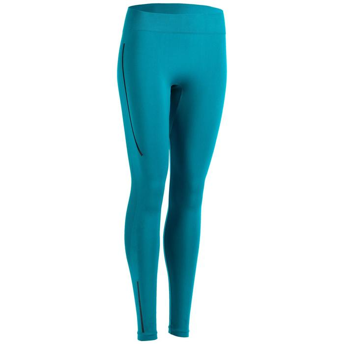 Legging femme 500 bleu/noir pour le cross training