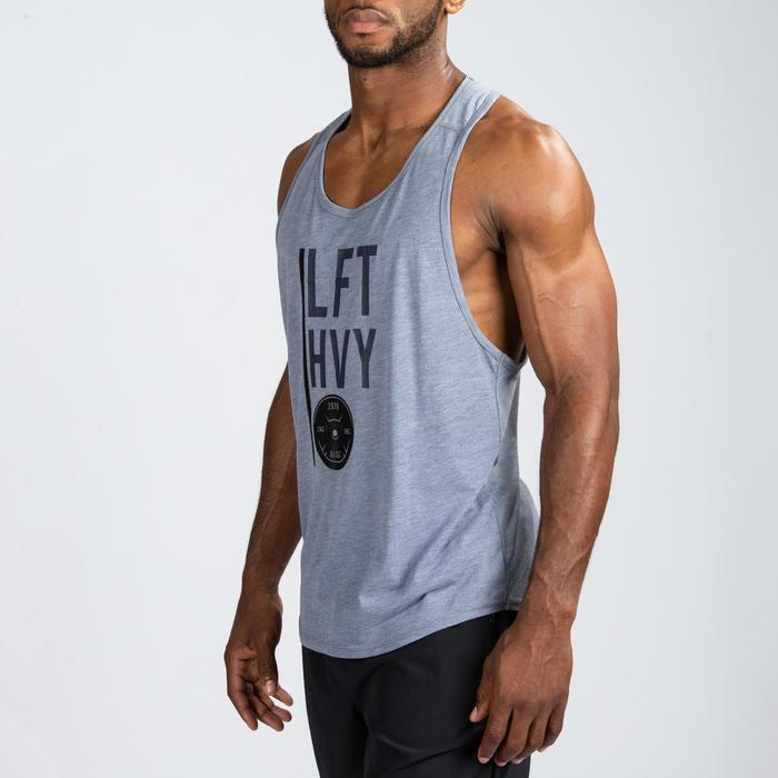 Camiseta Sin Mangas Tirantes Cross Training Musculación Domyos Hombre Gris