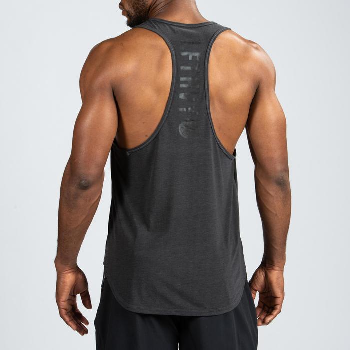 Fitness tanktop voor heren, zwart