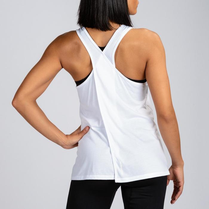 女款交叉訓練背心-白色