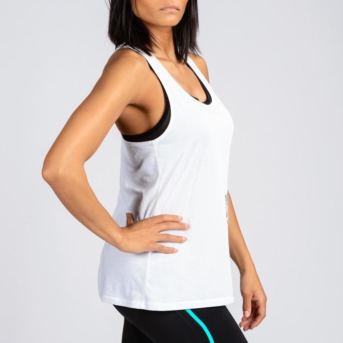 Camiseta sin mangas Crosstraining mujer blanco
