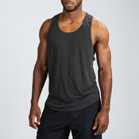 Stringer Weight Training Tank Top - Black