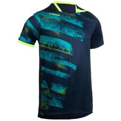 Handbalshirt voor heren H500 marineblauw / geel