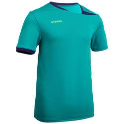 Camiseta de balonmano júnior H100 azul turquesa / violeta