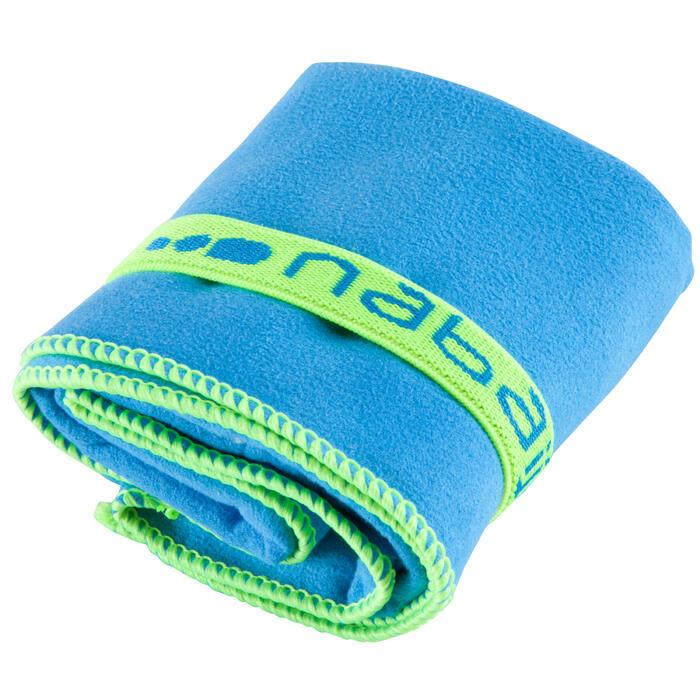 Supercompacte microvezel handdoek blauw maat S 42 x 55 cm
