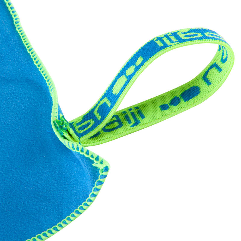 ผ้าขนหนูไมโครไฟเบอร์รุ่นกะทัดรัดเป็นพิเศษ ขนาด S 42 x 55 ซม. (สีฟ้า)