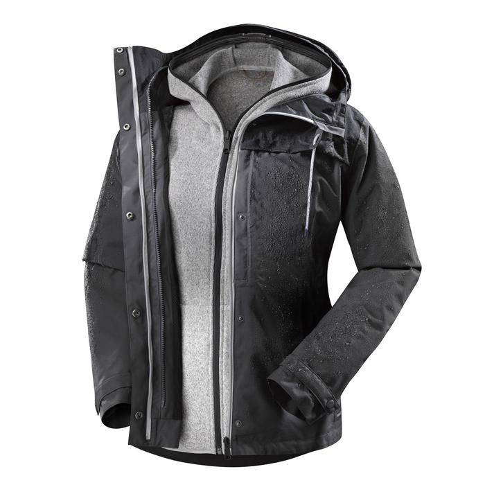 3-in-1-Jacke Travel 100 Damen dunkelgrau