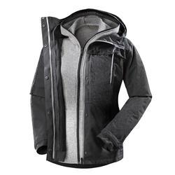 3-in-1 damesjas voor bakpacken Travel 100 donkergrijs