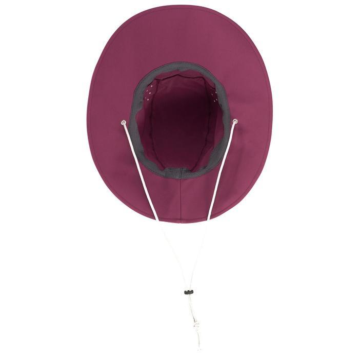 Uv-werende dameshoed voor bergtrekking Trek 500 paars