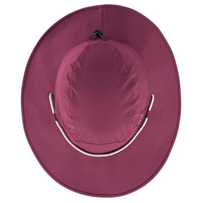 Chapeau de Trekking montagne TREK 500 Femme anti-UV violet