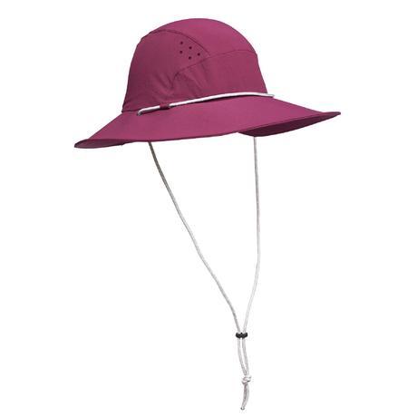 241163b7e1b Chapeau de Trekking montagne TREK 500 Femme anti-UV violet