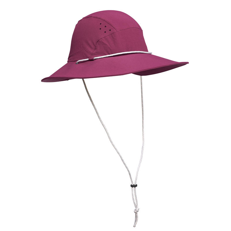 Sombrero de trekking en montaña TREK 500 Mujer anti-UV morado