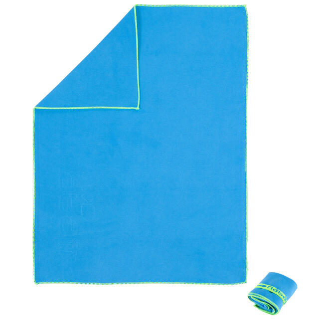 Microfiber Towel Ultra-Compact Size S 42 x 55 cm Blue