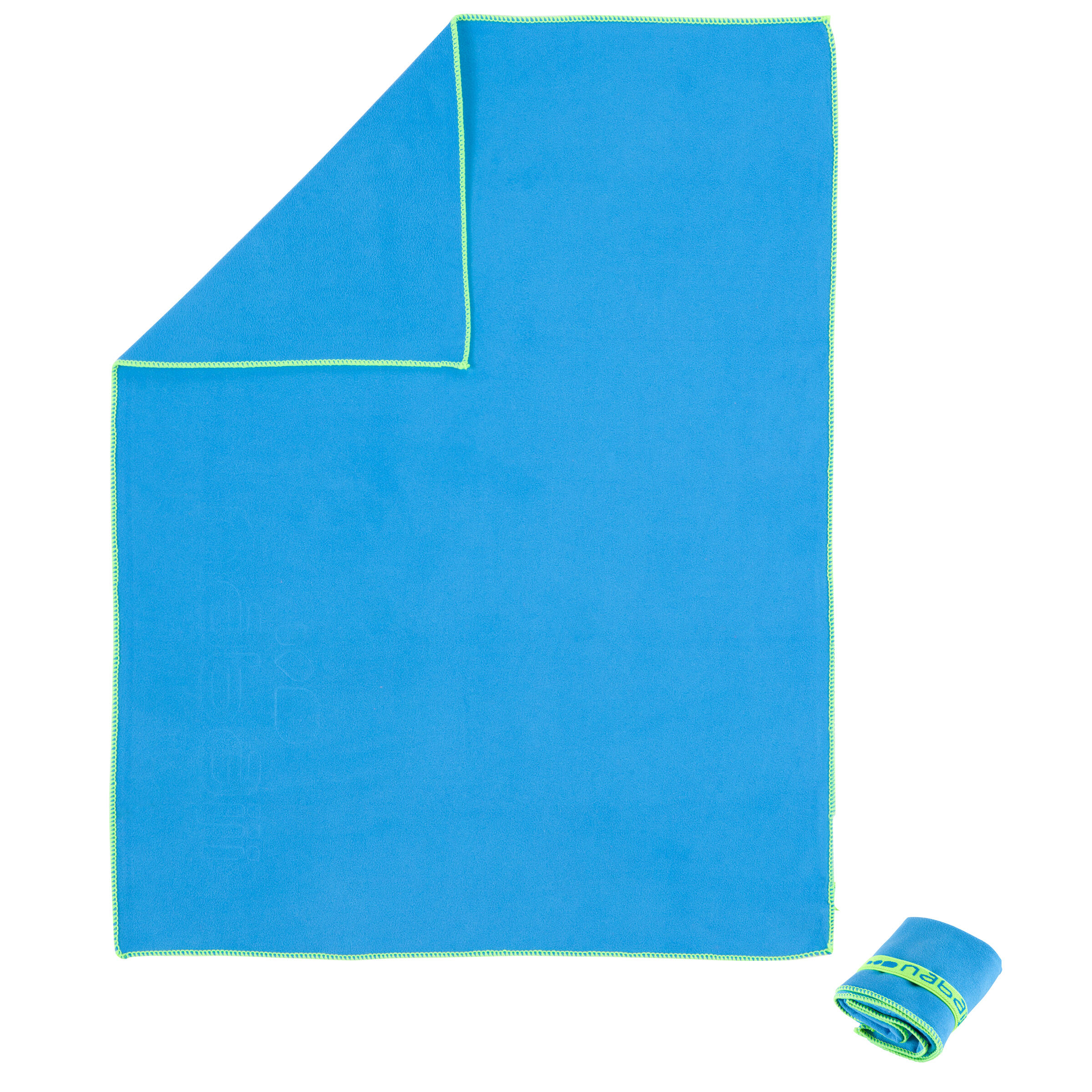 """Serviette microfibre bleue ultra compacte taille P 17"""" x 22"""""""