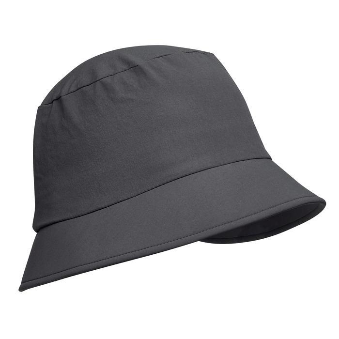 Sombrero de Trekking montaña TREK 100 gris oscuro Forclaz  fd467a5f665