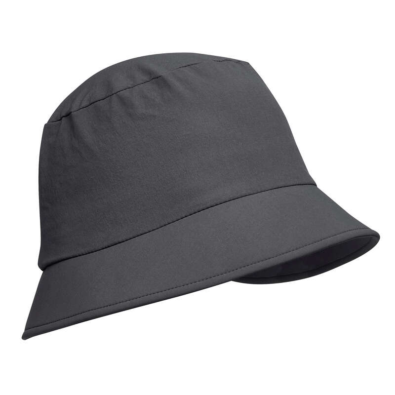 HAT, CAP, BUFF, BEANIE HIKING/TREK Hiking - Hat Trek 100 - Dark grey FORCLAZ - Hiking Clothes