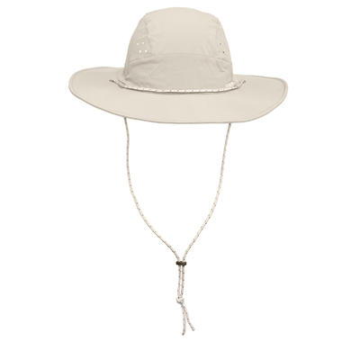 Trek 500 Men's Mountain Trekking UV Protective Hat - Beige
